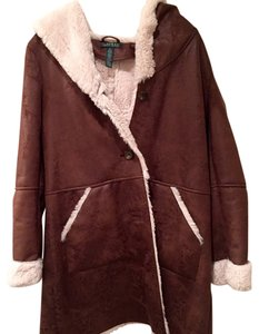 Ralph Lauren Shearling Faux Fur Fur Coat