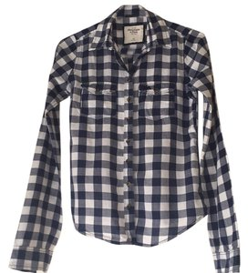 Abercrombie & Fitch Button Down Shirt Blue and white check