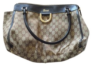 Gucci Tote in Brown And Tan