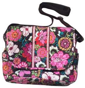 Vera Bradley Laptop Baby Travel FLORAL Messenger Bag