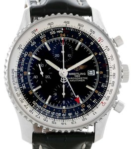 Breitling Breitling Navitimer World Chrono GMT Steel Watch A24322 Box Papers