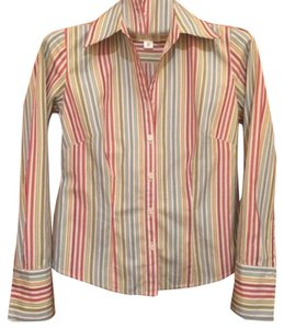 Ann Taylor LOFT Button Down Shirt Multi