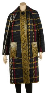 Miu Miu Python Plaid Boucle-tweed Coat