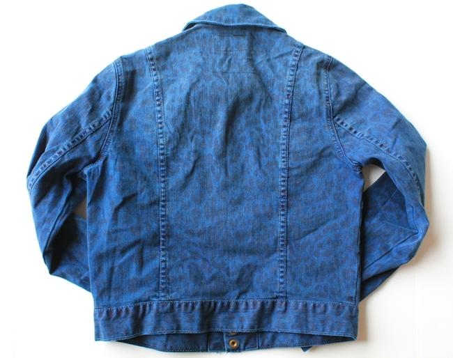 Current/Elliott Currentt/Elliott Animal Print Jean Jean Animal Print Blue Leopard Womens Jean Jacket