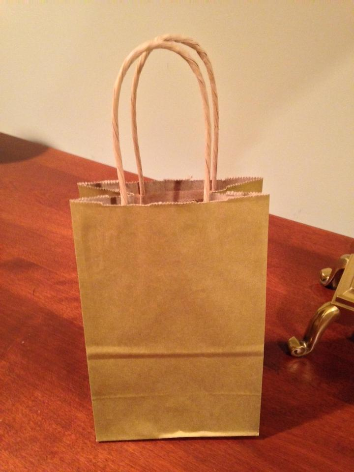 Gold Metallic 130 On Kraft Wedding Hotel Gift Bags