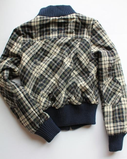 Guess Plaid Fall Blue Multi Jacket Image 1