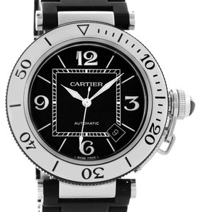 Cartier Cartier Pasha Seatimer Stainless Steel Black Rubber Watch W31077U2