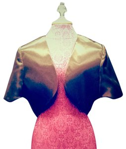 Bolero Formal Satin Brown Jacket