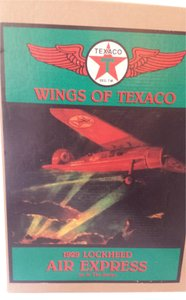 WINGS OF TEXACO replica airplane coin bank Wings of Texaco 1929 Lockhead Air Express