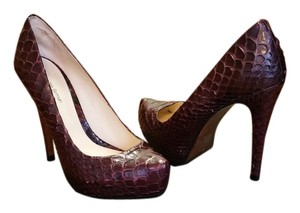 Alexandre Birman Python Wine Purple Pumps