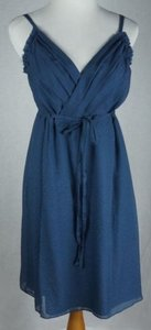 J.Crew short dress Blue Thessaly Beach Embossed Silk Cotton on Tradesy