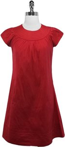Calypso short dress Red Silk on Tradesy