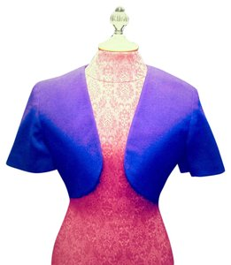 Other Wool Bolero Formal Short Sleeve Purple Jacket