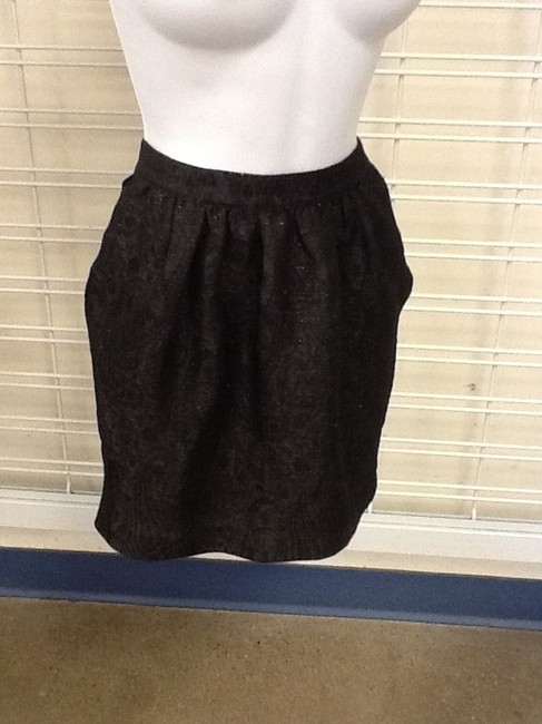 Lucca Couture Skirt Black with Gold Sparkles