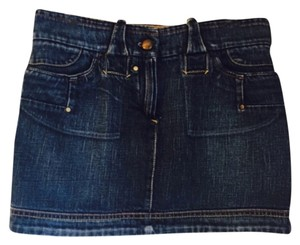 Sportmax Mini Skirt Blue denim