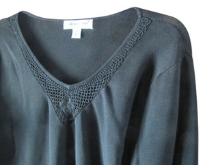 Coldwater Creek Medium Pretty Crochet Top Black