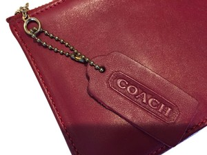 Coach Red Leather Coach clutch/wallet/makeup pouch