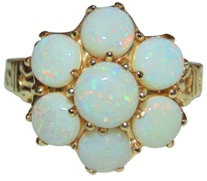 Antique 14K Gold Art Deco 3.75 Carat Natural Fiery Opal Ring Beatiful, early 1900s