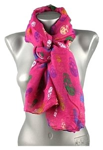 Skull Print Pink Fashion Candy Scarf
