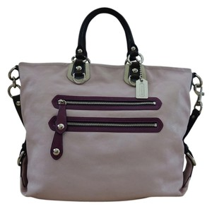 Coach Satchel in Pink/Purple/Navy