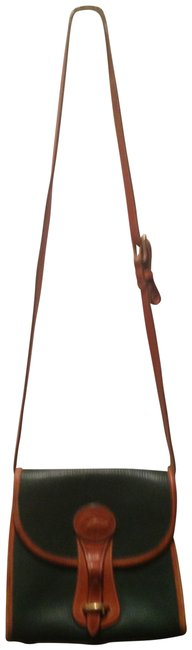 Item - Vintage :a 2164675 with Brass Protectors On Bottom Kelly Green and Brown Messenger Bag