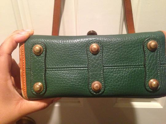 Dooney & Bourke Kelly Green and Brown Messenger Bag