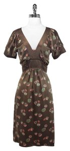 Marc Jacobs short dress Brown Silk Floral on Tradesy