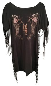 Blood Is The New Black short dress Black Fringe on Tradesy
