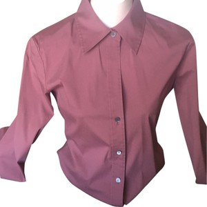Theory Button Down Shirt Light wine color