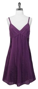Ralph Lauren short dress Purple Cotton on Tradesy