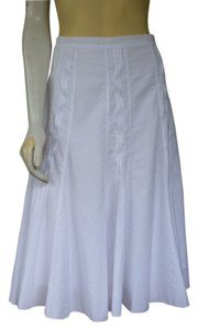 Coldwater Creek Cotton Blend A-line Skirt White