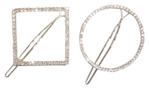 geometric crystal hair pins
