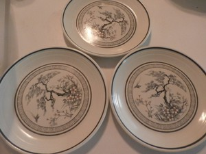 Royal Doulton Multi Color 3 Saucers Asian Dawn Made In England Other