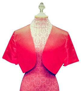 Other Silk Bolero Satin Red Jacket
