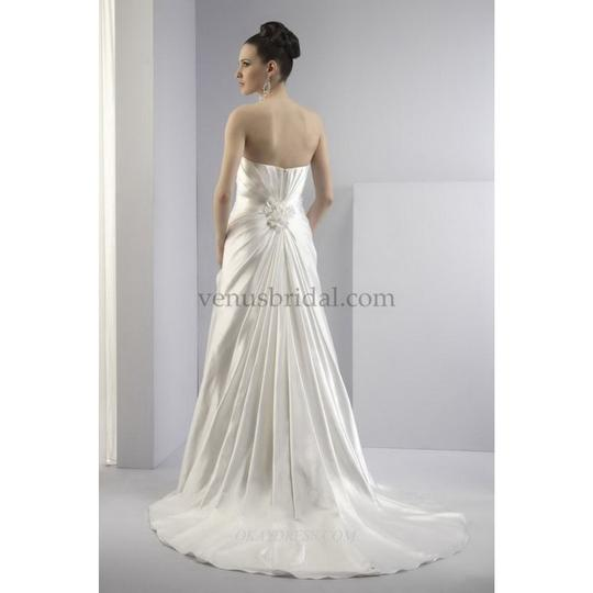 VENUS White Charmeuse Pa9038 Modern Wedding Dress Size 10 (M)