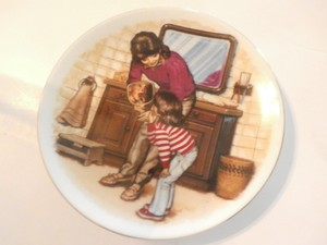 Avon Collections Special Memories Mini Plate By Tom Newsom A New Tooth 1986