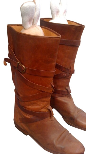Joan & David Chestnut Leather Boots/Booties Size US 7 Regular (M, B) Joan & David Chestnut Leather Boots/Booties Size US 7 Regular (M, B) Image 1