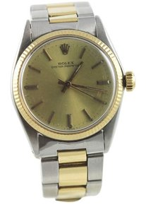 Rolex Vintage Rolex mid size watch 30mm 18k two tone stainless
