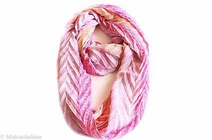 Collection Eighteen Collection Xiix Chevron Pleated Paisley Loop Scarf White Bright