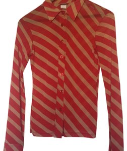 Zoomp Button Down Shirt Red/Nude