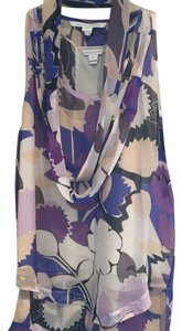 Diane von Furstenberg Top Purple cream