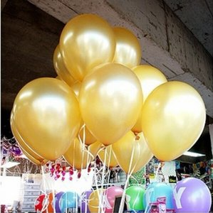 """Gold 100 Pcs - 10"""" Color Birthday Wedding Party Decor Latex Balloons Indoor Outdoor Decoration"""