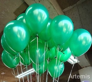 "Green 100 Pcs - 10"" Color Birthday Wedding Party Decor Latex Balloons Indoor Outdoor Decoration"