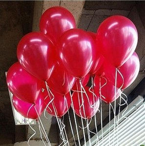 """Red 100 Pcs - 10"""" Hot Color Birthday Wedding Party Decor Latex Balloons Indoor Outdoor Decoration"""