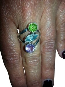 Other Sterling Silver Topaz, Amethyst, Peridot ring