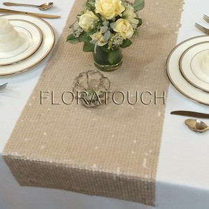 """Champagne Table Runner 108"""" Tablecloth"""
