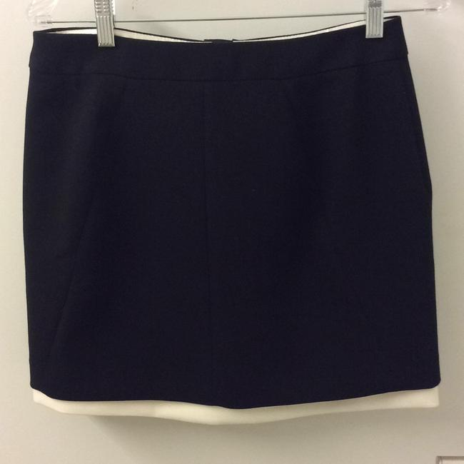 Banana Republic Colorblock Mini Skirt Black