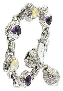 Judith Ripka Judith Ripka Amethyst & Mother of Pearl Diamonique Heart Bracelet