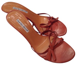 Charles David Burnt Orange/ Rust Sandals