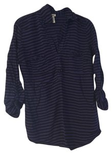 Splendid Button Down Shirt Navy and Blue